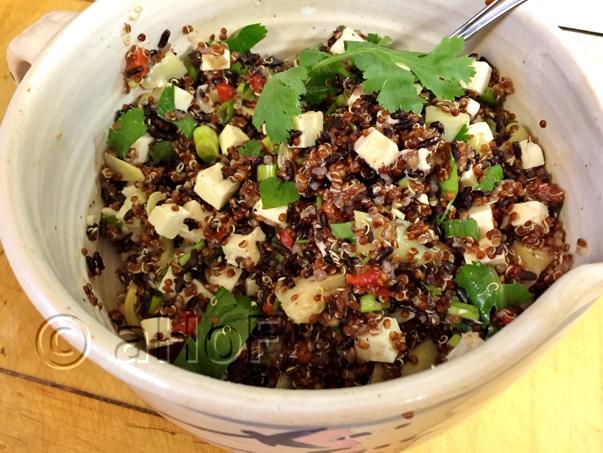 Red Quinoa & Black Rice Salad