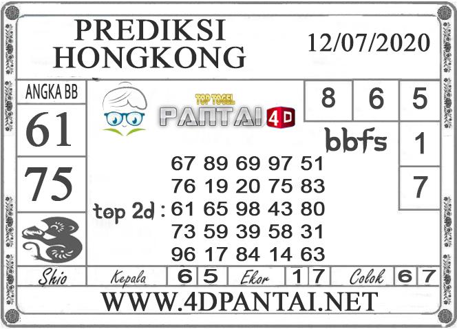 PREDIKSI TOGEL HONGKONG PANTAI4D 12 JULI 2020
