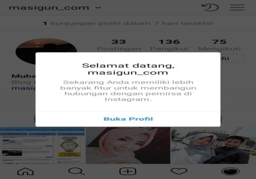 Beralih ke Profil Bisnis Instagram