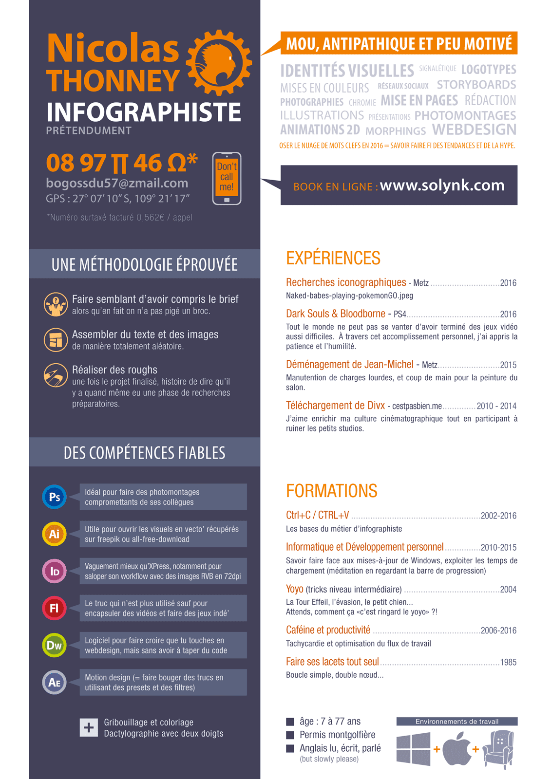 what a time to be alive    infographiste professionnel   le cv gagnant