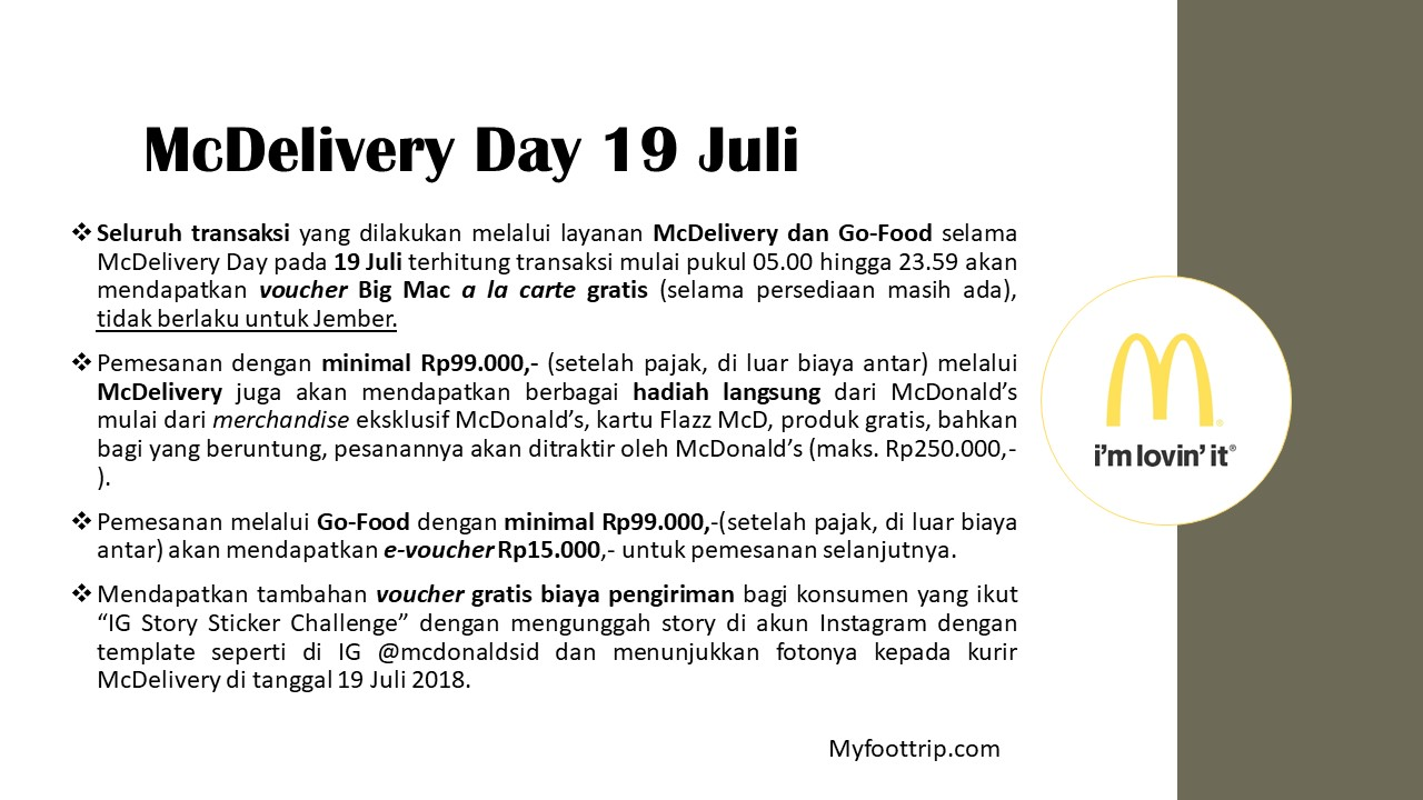 mcdonalds mcdelivery day