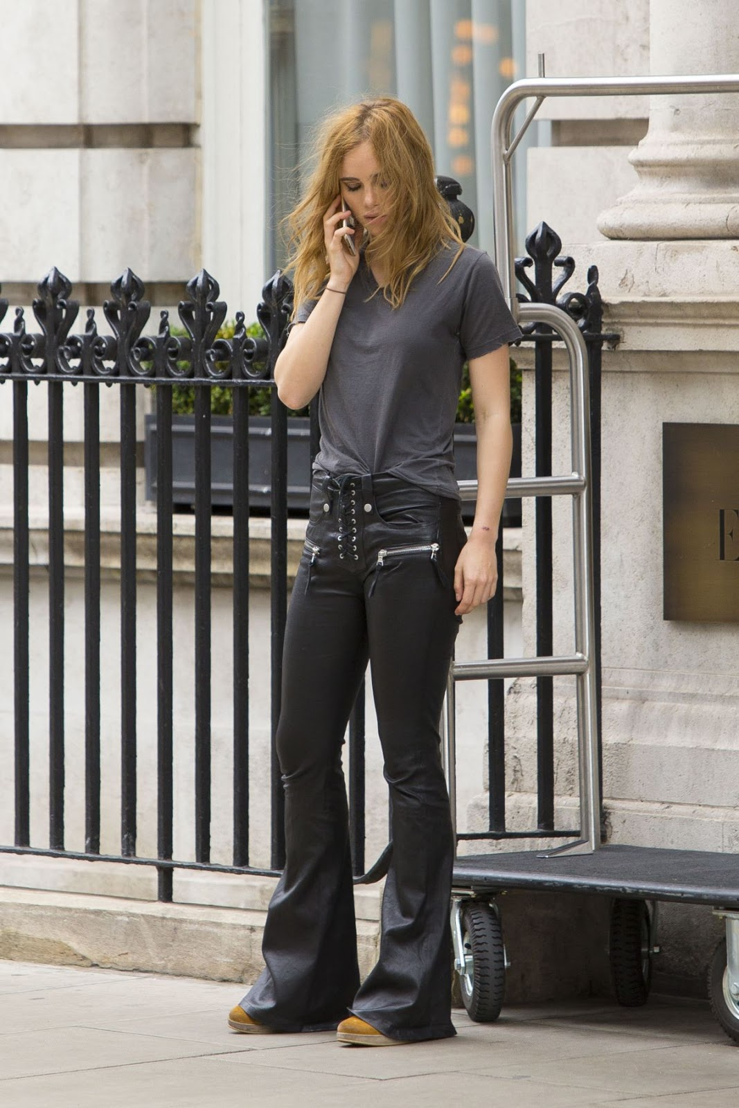 The White Princess actress Suki Waterhouse Arrives at Edition Hotel in London