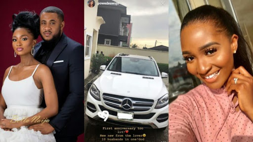 Husband Gifts Ex-Beauty Queen, Powede Eniola A Car For Their Wedding Anniversary