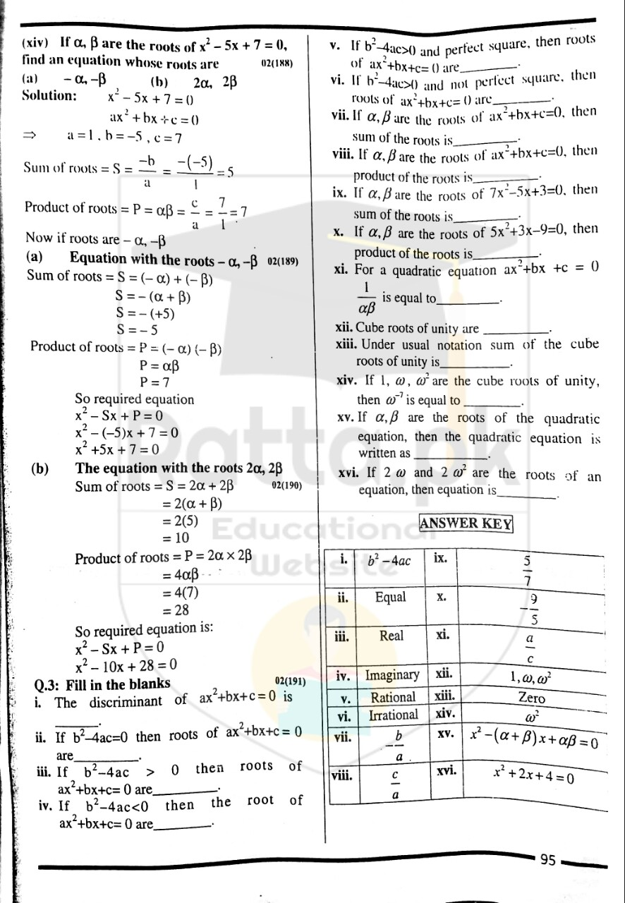 10th Maths Misc. Exercise 2 Notes 8