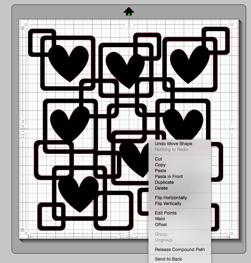Releasing a compound path on a digital cut file to be able to fill the negative space with patterned paper.
