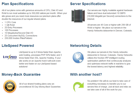 MDDHosting, Shared hosting