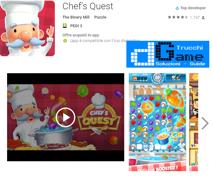 Trucchi Chef's Quest Mod Apk Android v1.0.4