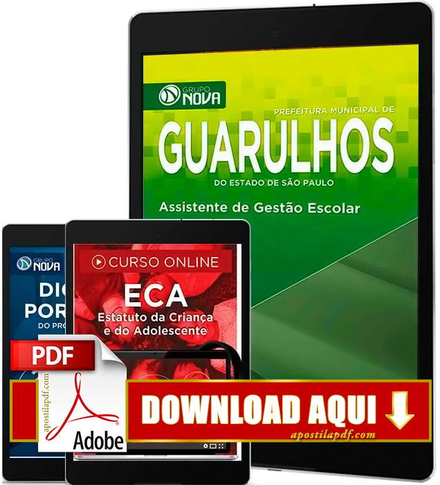 Apostila Prefeitura de Guarulhos 2016 PDF Download Assistente de Gestão Escolar