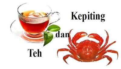 Hewan laut bernama kepitng ini memang gurih untuk dinikmati yang akan menambah selera makan. Namun, jika anda mengkonsumsi kepiting secara bersamaan dengan minum teh adalah mimpi buruk bagi lambung anda