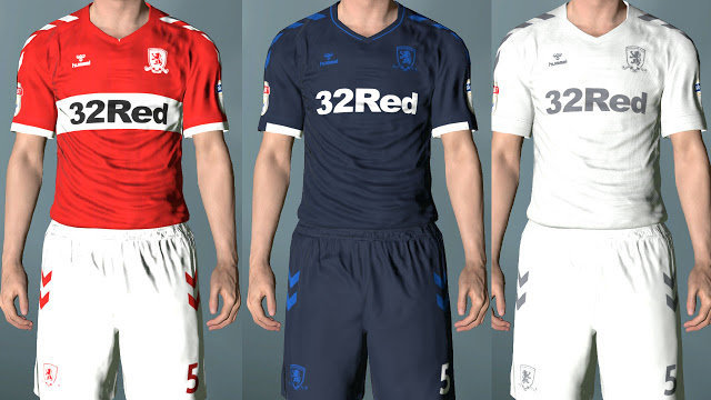 b714ead44 Middlesbrough Full Kits 2018 2019 - PES 2017 - PATCH PES