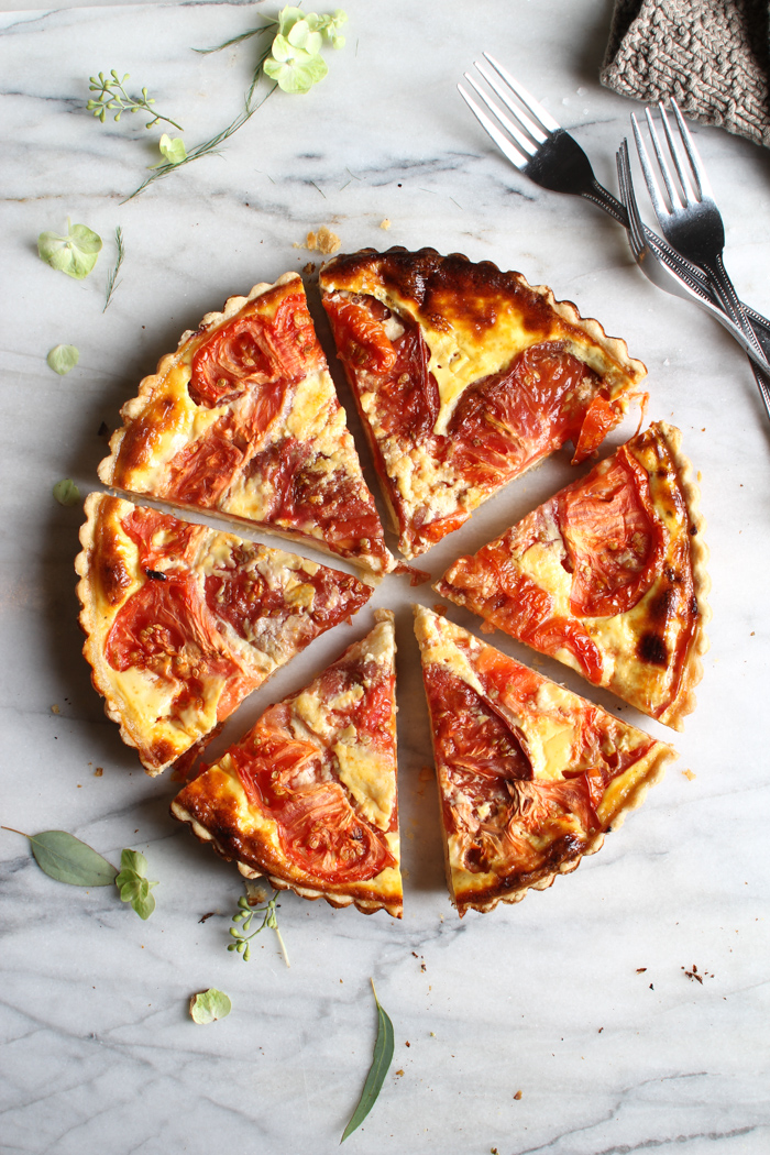 Tomato and Cheddar Tart with a Savory Parmesan Crust | The ...