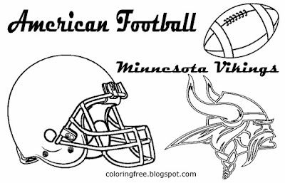 Minnesota Vikings clipart American football gridiron coloring pages for boys US sports match cards