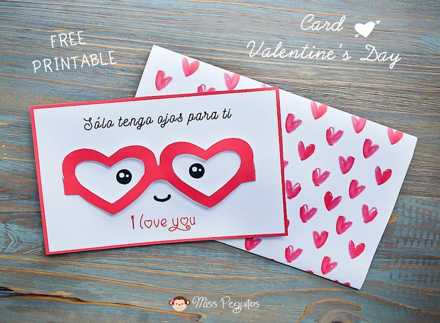 diy tarjeta san valentin valentines card
