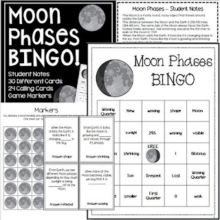 https://www.teacherspayteachers.com/Product/Moon-Phases-Bingo-Review-1446349