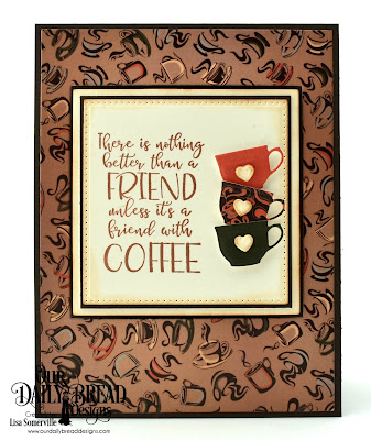 Stamp/Die Duos: Hug In A Mug, Paper Collection: Latte Love, Custom Dies: Squares, Pierced Squares, Lever Card Layers, Mini Cups & Mugs
