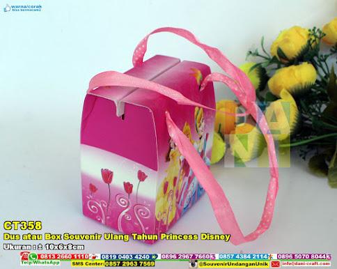 Dus Atau Box Souvenir Ulang Tahun Princess Disney