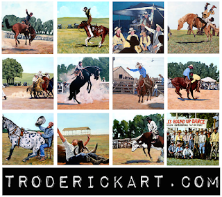 A Whole Lot of Bull Rodeo artwork by Boulder artist Tom Roderick