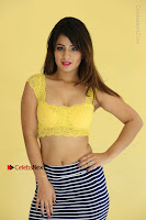 Cute Telugu Actress Shunaya Solanki High Definition Spicy Pos in Yellow Top and Skirt  0142.JPG