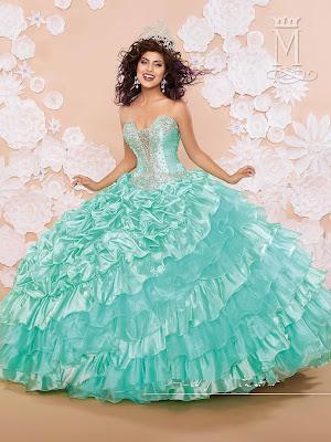 opciones de Vestidos de 15 Años Color Menta