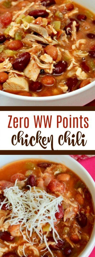 NEW ZERO POINTS SLIGHTLY SPICY CHICKEN CHILI RECIPE