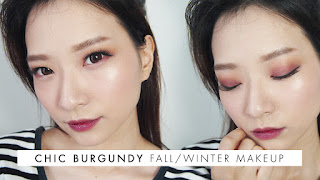 Chic Burgundy Fall Winter Makeup Asian Hooded Eyelid - Beauty Blogger Indonesia