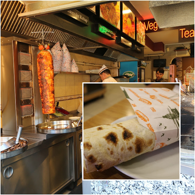 One of the most popular local food called Kebab in Turkey which is wrapped with lettuce and meat with the bread