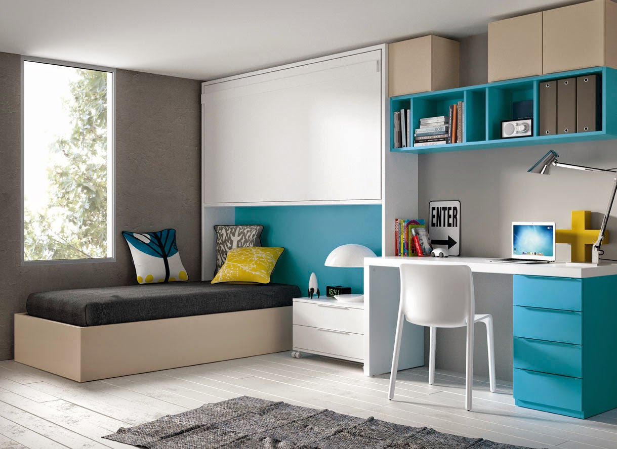Dormitorios juveniles para dos hermanos for Escritorios dobles juveniles