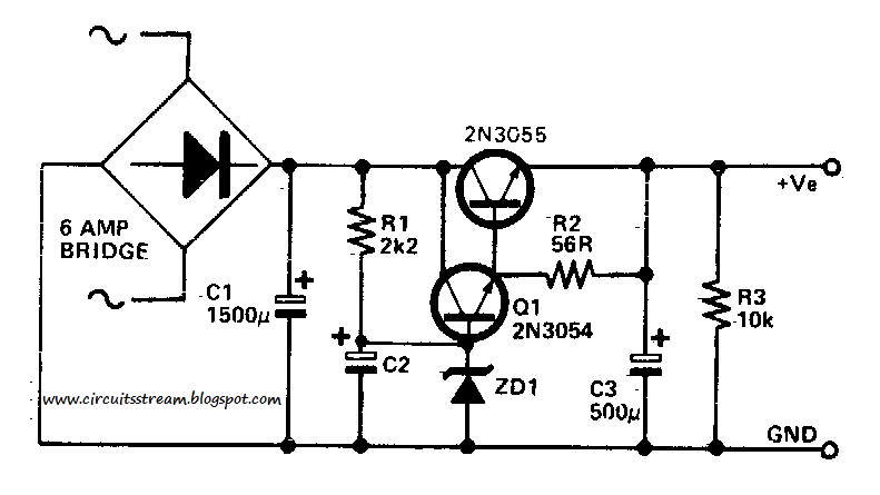 build a low ripple power supply circuit diagram
