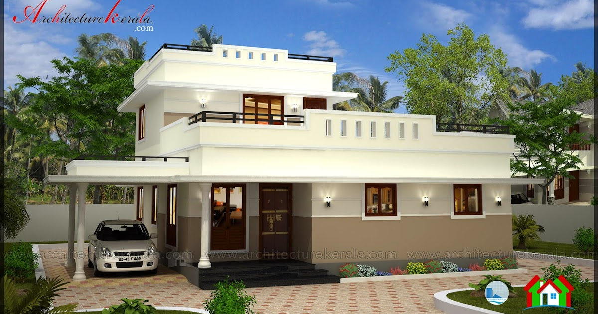 Low cost 3 bedroom kerala house plan with elevation free for Home design kerala with cost