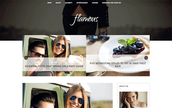 Flamous Free Blogger Template