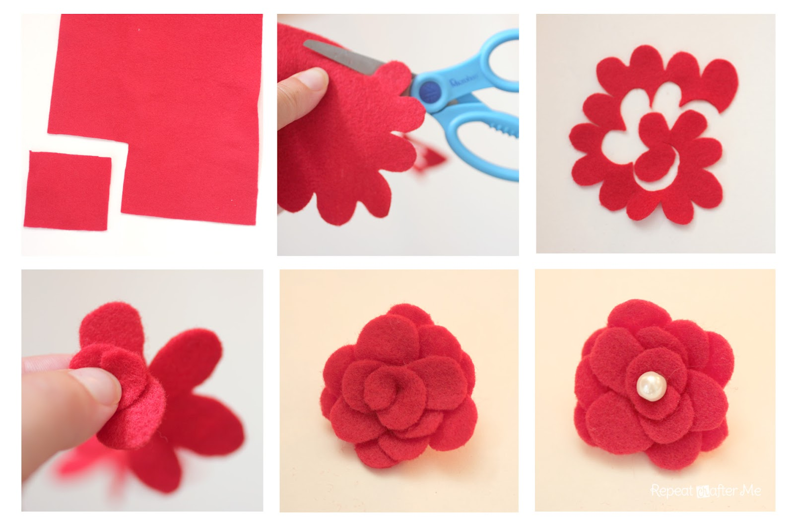 How To Make a Felt Flower Repeat Crafter Me