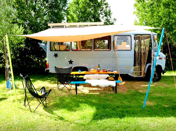 Wanderlust: Glamping in Europe | Mercedes Surf Bus (De Woude, Netherlands)