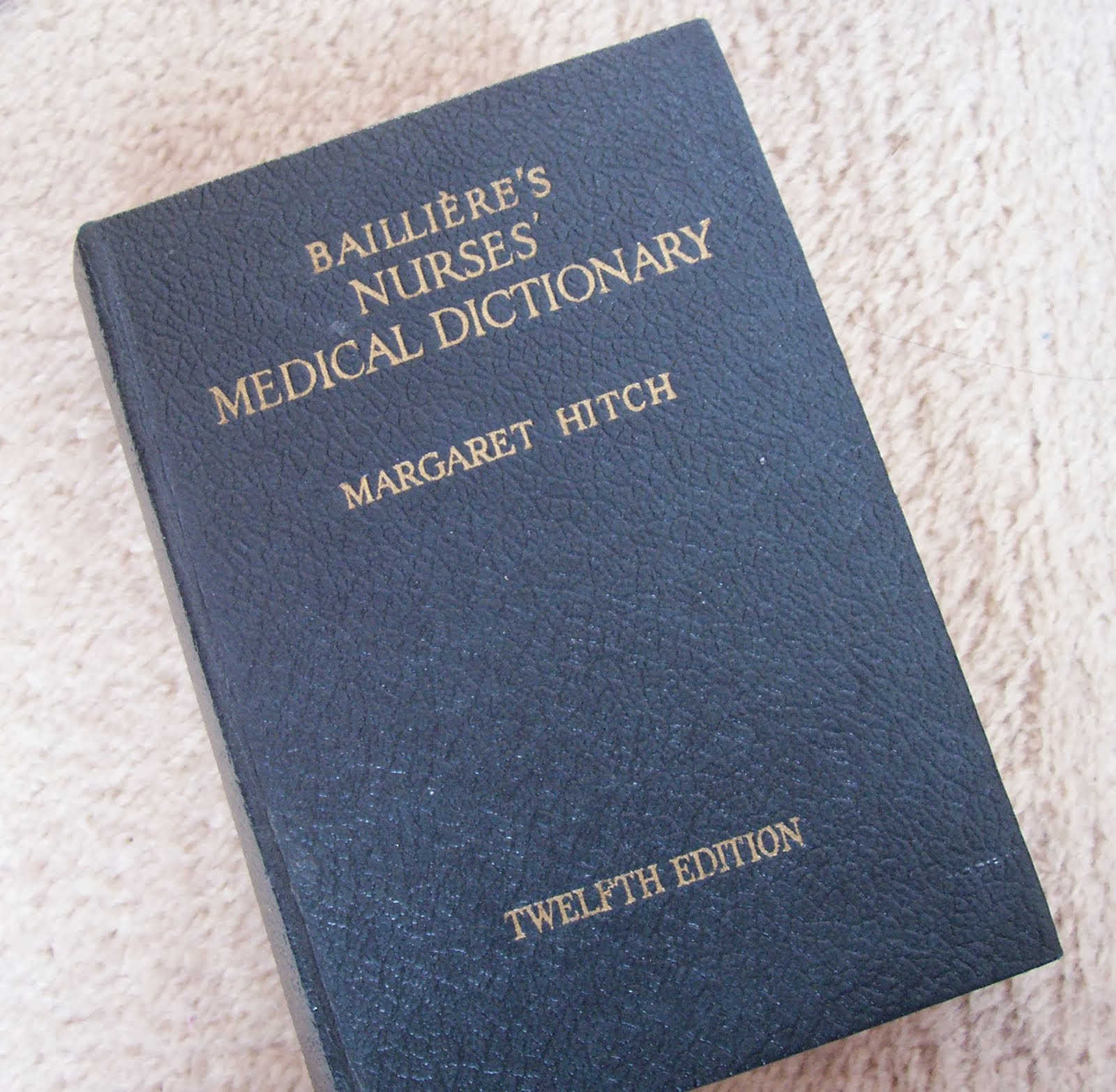 image vintage bailliere's nurses' medical dictionary margaret hitch