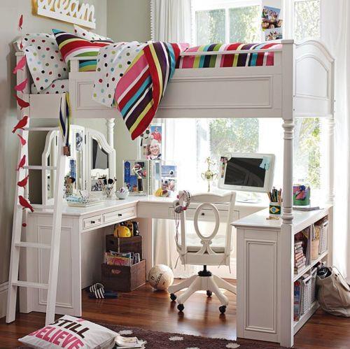 Cama arriba escritorio abajo - Cama litera con escritorio debajo ...