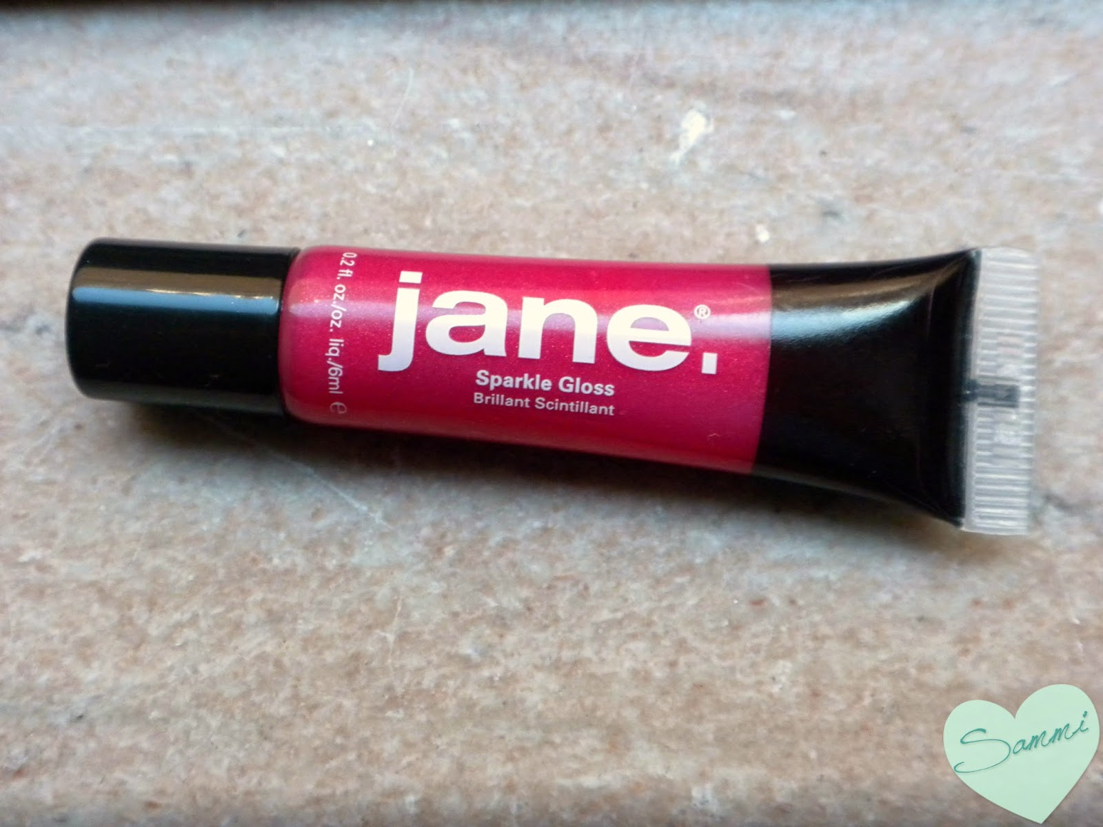 JANE COSMETICS Sparkle Gloss in Sparkle Pink