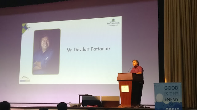 Mythology Expert Devdutt Pattanaik Interacts with Teachers at Shiv Nadar School