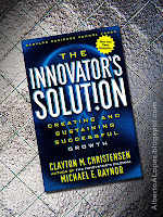 "Beauty shot picture of book by Clayton Christensen and Michael Raynor, ""The Innovator's Solution"", ""Creating and Sustaining Successful Growth"""
