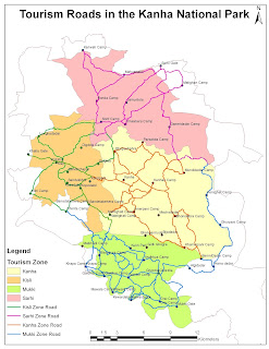 Tourism zones in Kanha Tiger Reserve