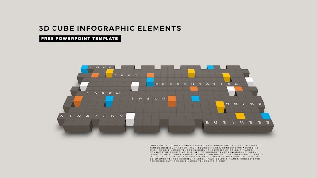 3D Cube Infographic Elements for Free PowerPoint Template Design Slide 16