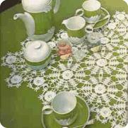 Centro de Mesa Ovalado a Crochet o Ganchillo