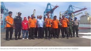 Hari ini Basarnas Hentikan Pencarian Korban Lion Air PK-LQP