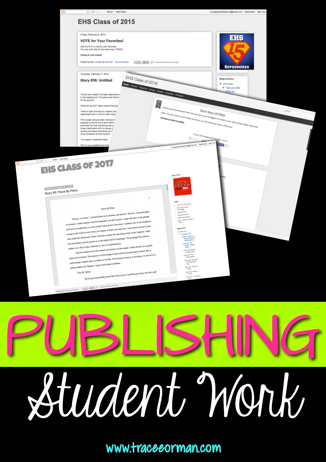 Publishing Student Work {from www.traceeorman.com}