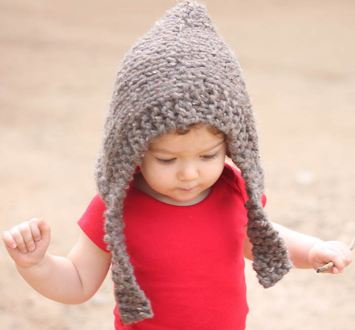 Childrens Hood Knitting Pattern : Child Woodland Hood [knitting pattern] - Gina Michele