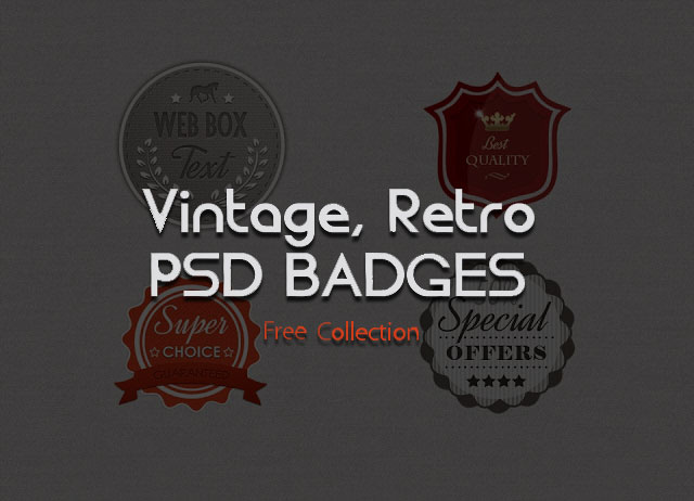 59 Best Free Badges Vector & PSD Sets