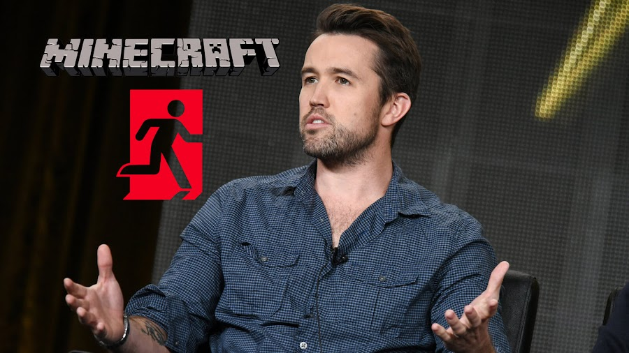 rob mcelhenney exits minecraft movie