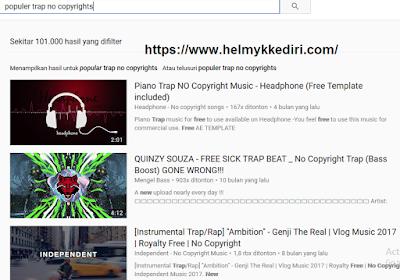 Mencari musik dan video tanpa copyright2