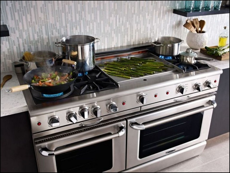 Stove With Flat Top Grill