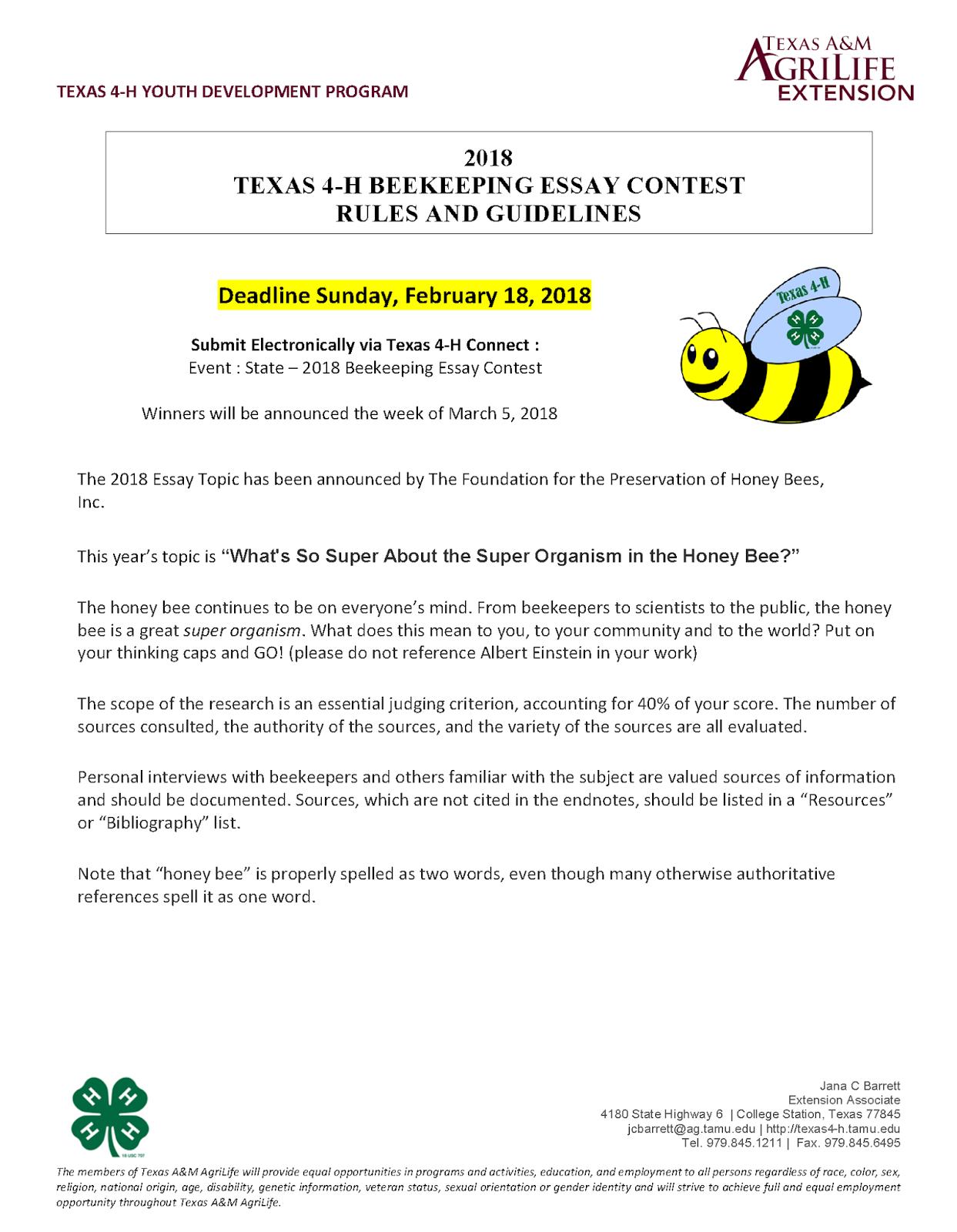 honey bee scholarship