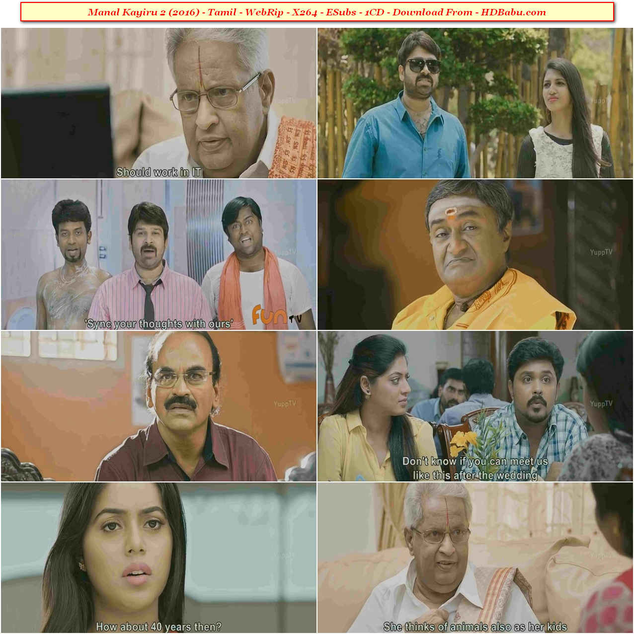 Manal Kayiru 2 Full Movie Download, Manal Kayiru 2 (2016) Tamil WebRip x264 1CD 700MB ESub