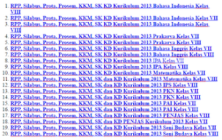 RPP, Silabus, Prota, Prosem, KKM, SK KD Kurikulum 2013 Jenjang SMP Lengkap 2016